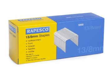 RAPESCO 13/8mm STAPLES - Hard Wire Galvanised Staples (Box 5,000)